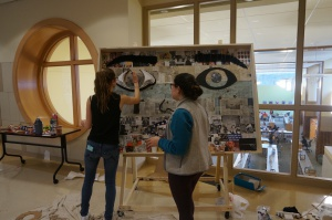 "Evolutions students strive to depict ""the face of war"" in their mural, the inspiration for which began in interviews with local veterans."