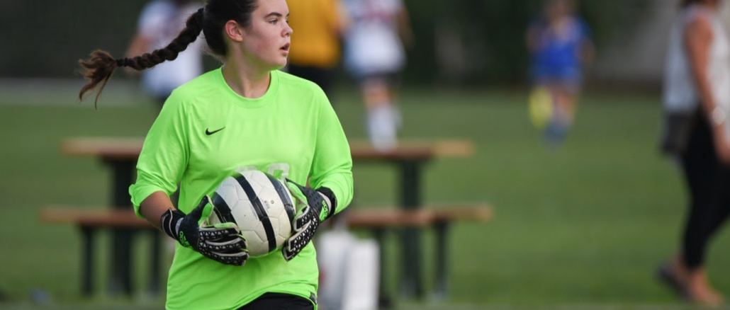 "For Mackenzie O'Neil, the hardest part of playing at the varsity level was ""just having to adjust to the higher level of intensity of soccer being played."" Photo courtesy of Linnea O'Neil."